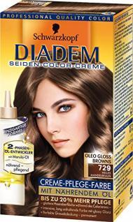 Schwarzkopf Diadem helles Mandelbraun 729/ Haarfarbe/ dauerhafte Haarfarbe/ Coloration/ mit Öl-Entwickler
