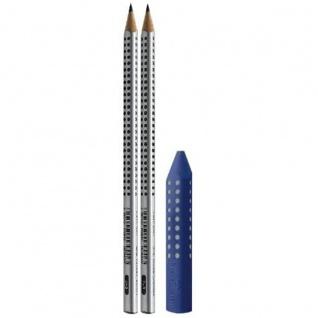 Faber Castell Bleistifte Grip 2001 und Grip Radierer 3er Set