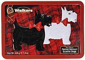 Walkers Scotty Dog Shortbread Tin 220 g, 1er Pack (1 x 220 g)