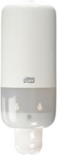 Tork 560000 Spender für Flüssig- und Sprayseife S1/S11 / Weißer Seifenspender in modernem Elevation Design