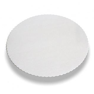 Tortenunterlagen Pappe rund weiß mit gezacktem Rand Papstar 100 Stück