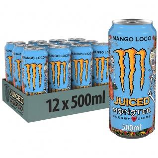 Monster Energy Mango Loco mit tropischen Mangosaft 500ml 12er Pack