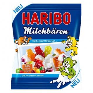 Haribo Milchbären mit 20% Fruchtsaft Gummibärchen 175g 16er Pack
