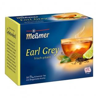 Meßmer Schwarzer Tee Earl Grey aromatisiert frisch pikant 87g