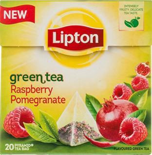 Lipton Grüner Tee Himbeere-Granatapfel 4er Pack