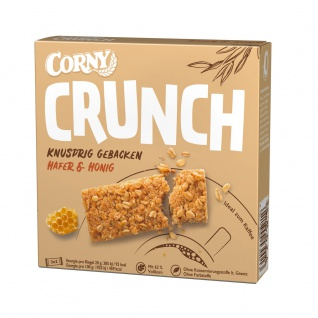 Corny Crunch Hafer und Honig gebackene Müsliriegel 3x2er 120g