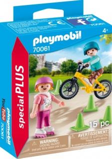 Playmobil Special Plus Kinder mit Skates und BMX Spielset 70061