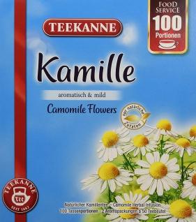 Teekanne Kamille aromatisch mild natürliche Zutaten 100 Portionen