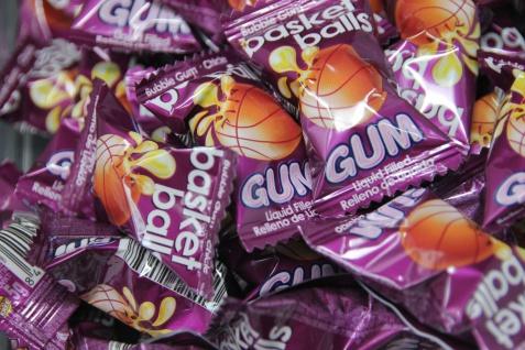 Bubblegum Basket Ball Kaugummi Cola Zitrone Geschmack einzeln 5g