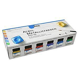 Acryl Metallicfarben Basis-Set 6x20ml