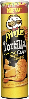 Pringles Tortilla Nacho Cheese Stapelchips mit Käsegeschmack 180g