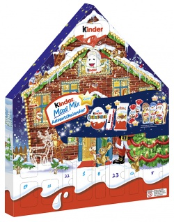 Ferrero Kinder Maxi Mix Adventskalender 24 Kreationen 351g 1er Pack