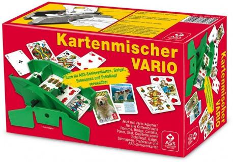 ASS mechanischer Kartenmischer Vario für Rommé Skat oder Poker