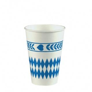 Papstar Pappbecher Bayrisch Blau 0, 2l