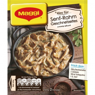Maggi Fix für Senf Rahm Geschnetzeltes cremig und pikant 31g