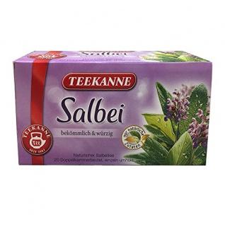 Teekanne Salbei natürlicher Salbeitee 20 Doppelkammerbeutel 30g