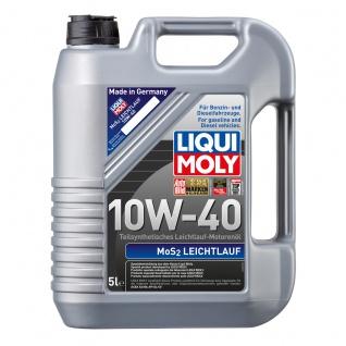 Liqui Moly MoS2 Leichtlauf 10W 40 Teilsyntetisches Motorenöl 5L