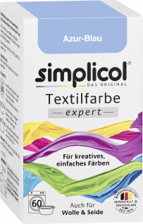 Simplicol Textilfarbe expert Azur Blau