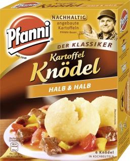 Pfanni Kartoffel Knödel Halb und Halb 6 Stück im Kochbeutel 200g