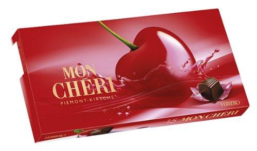 Ferrero Mon Chéri 15 einzeln verpackte Likör Kirsch Pralinen 157g