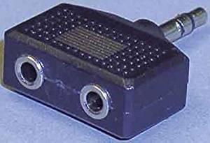 Stereo-Kompaktadapter Klinkenst. 2 Klinkenkup. 3, 5mm