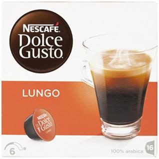 Nescafé Dolce Gusto Caffè Lungo Kaffee Kapseln 1er Pack, 16 Kapseln, 16 Portionen, 112g