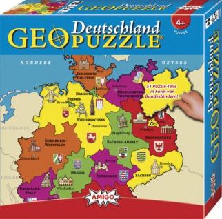 Amigo GeoPuzzle Deutschland Ein tolles Puzzle für Kinder ab 4 Jahren