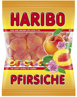 Haribo Pfirsiche Gezuckertes Fruchtgummi mit Pfirsichgeschmack 200g