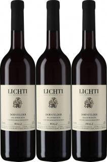 Dornfelder halbtrocken Schwarzerde Weingut Lichti 750ml 3er Pack