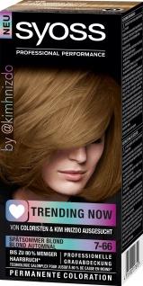 SYOSS Coloration 7-66 Spätsommer Blond Trending Now Stufe 3 115 ML