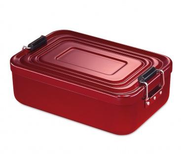 Küchenprofi Lunchbox klein Aluminium in der Farbe rot 18x12x5cm