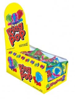 DOK Ring Pop Bazooka Lutscher auf Kunststofffassung 10g 24er Pack