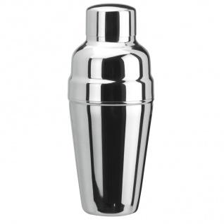 Fuchs Deluxe Cocktail Shaker mit Eisrückhalter 3 teilig 500ml