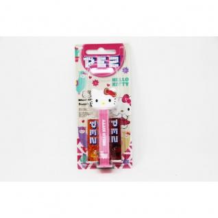 PEZ Hello Kitty Spender rosa mit 2 Päckchen süßen Bonbons 17g