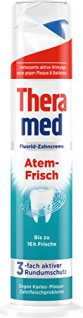 Theramed Zahncreme Spender Atem-Frisch Fluorid 100ml 5er Pack