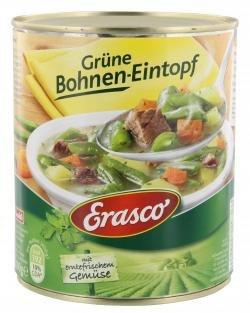 Erasco Grüne Bohnen Eintopf mit Möhren Kartoffeln und zartes Rindfleisch 800g - Vorschau 2