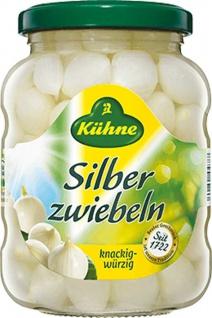 Kühne Silberzwiebeln knackig und würzig im Glas 370ml 6er Pack