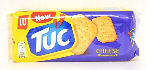 Tuc Cracker Cheese Snack-Klassiker Salzgebäck mit Käse-Geschmack 12er Pack 100g