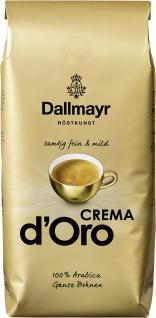 Dallmayr Kaffee Crema d Oro Ganze Bohnen samtig fein 1000g 8er Pack