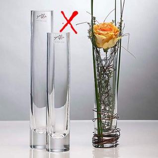 Glasvase Blumenvase von Sandra Rich Serie SOLIFLEUR transparent 20cm