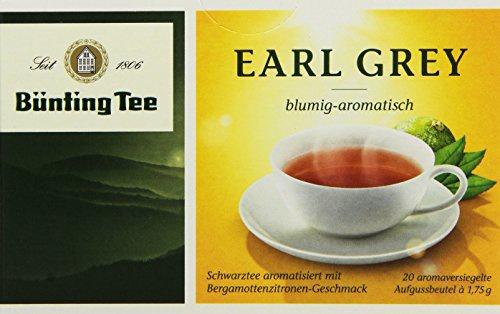 Bünting Tee Earl Grey blumig aromatisch Schwarztee 12er Pack