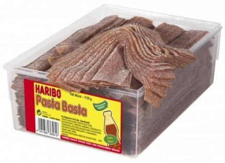 Haribo Pasta Basta Cola Sour Fruchtgummi in Dose mit 150 Stück
