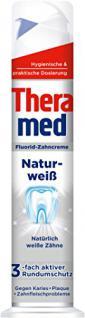 Theramed Zahncreme Spender Naturweiß, 5er Pack (5 x 100 ml)
