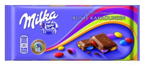 Milka bunte Kakaolinsen Menge:100g