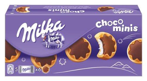 Mondelez Milka Choco Mini Kekse mit leckerer Milchcreme 185g 4er Pack