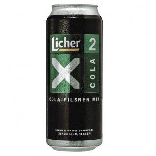 Licher X2 Cola Pilsner Mixgetränk aus Limonade und Cola Dose 500ml