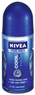Nivea Deodorant Roll-On Cool Kick für Männer 50 ml, 3er Pack (3 x 50 ml)