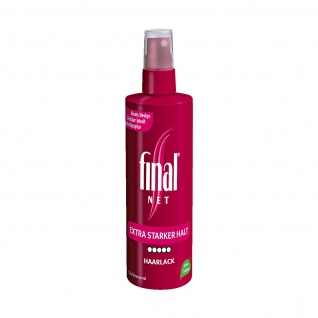 Final Net Haarlack extra starker Halt duftneutral ohne Treibgas 125ml 3er Pack