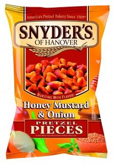 Snyders Honey Mustard und Onion Pretzel Pieces mit Honig 125g