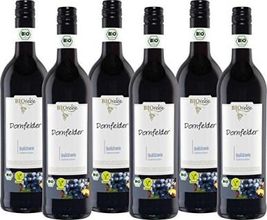 BIOrebe Dornfelder Rotwein Qualitätswein halbtrocken fruchtig 4500ml, 6er Pack